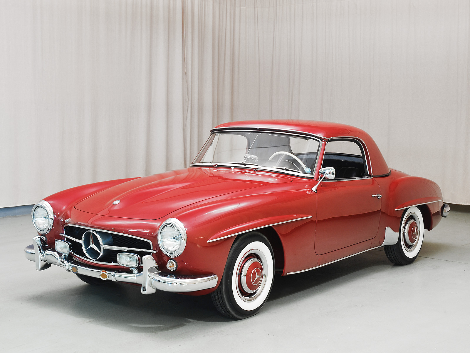 1957 mercedes benz 190sl convertible coupe for Mercedes benz coupe convertible