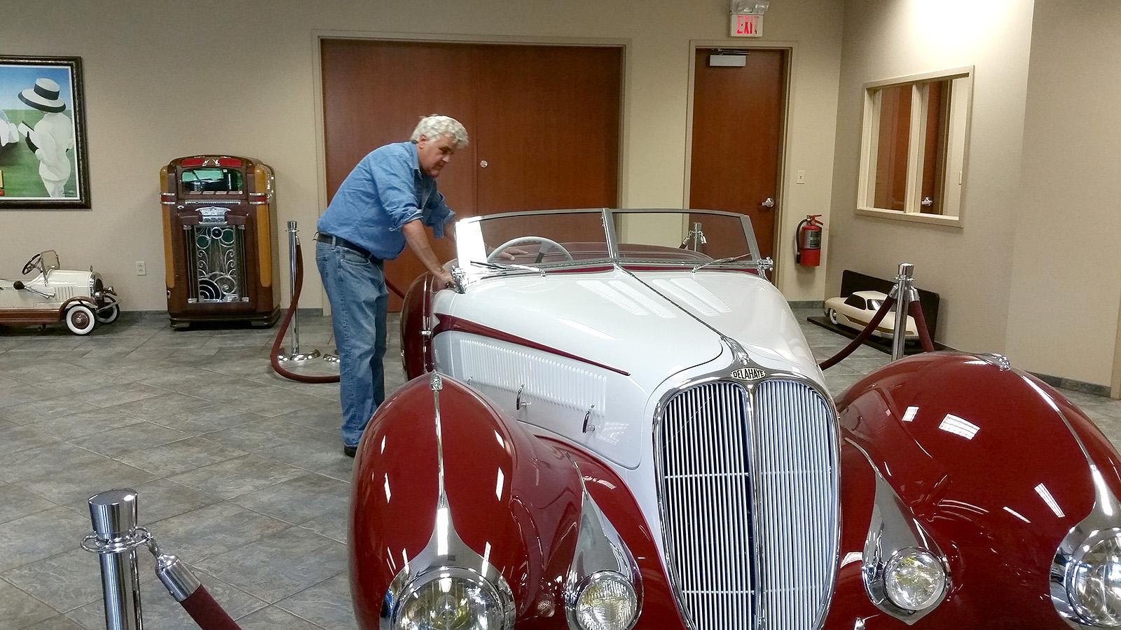 Jay Leno at Hyman Ltd. | Hyman Ltd. Classic Cars