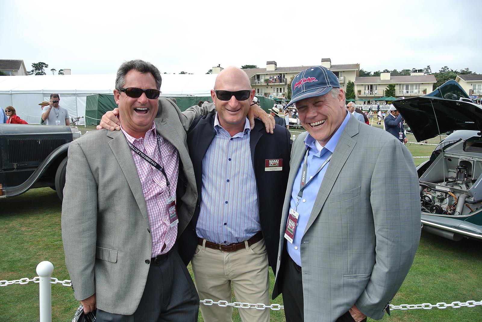 Donnie Gould, Mark Hyman and Craig Jackson at the Pebble Beach ...