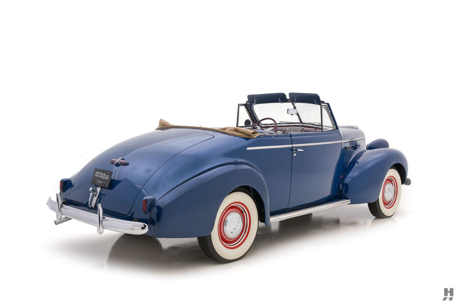 back view of vintage 1939 Buick Convertible automobile for sale at Hyman consignment dealers near you