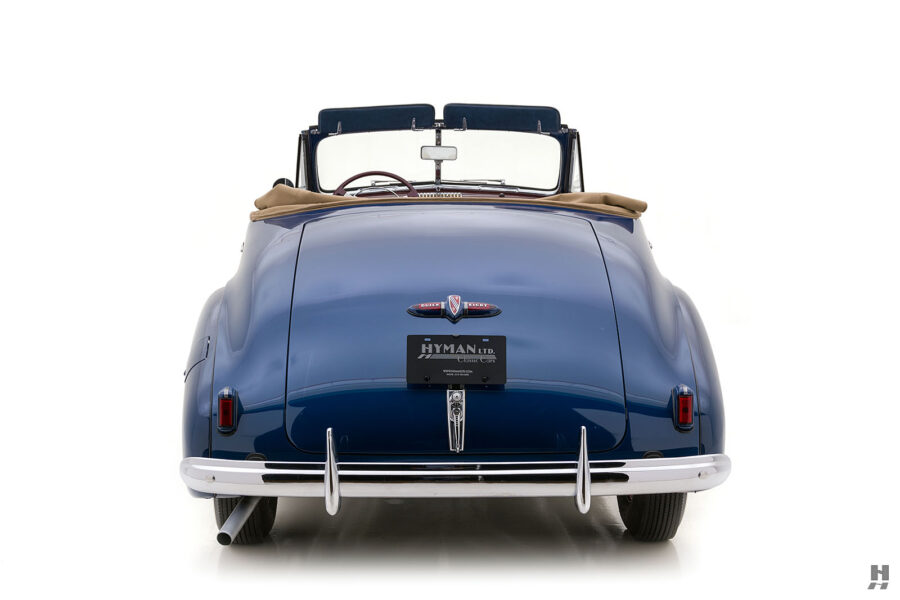 Back of classic 1939 Buick Convertible for sale at Hyman automobile dealers in the Midwest