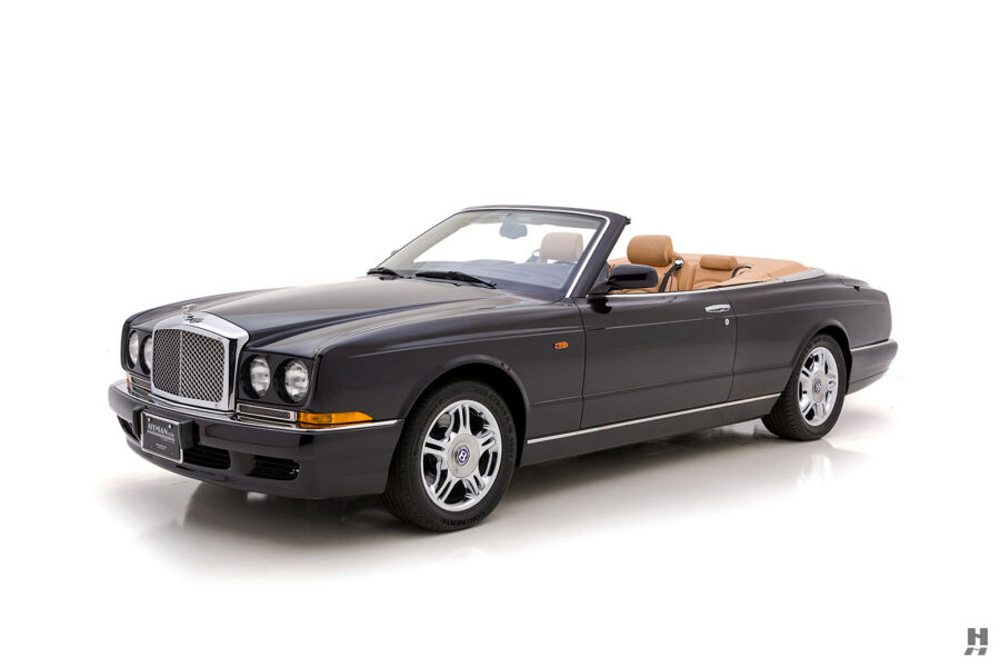 Angled Right Side View of Back of Classic 2001 Bentley Azure Convertible Available Online at Hyman