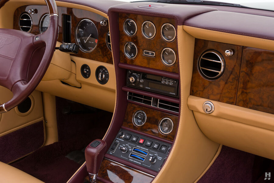 Dashboard View on Classic 2001 Bentley Azure Convertible Car For Sale at Hyman Dealers