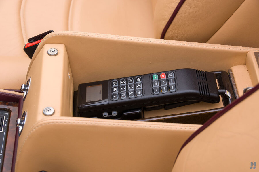 Close Up of Old Phone in Classic 2001 Bentley Car For Sale at Hyman Dealers Near You