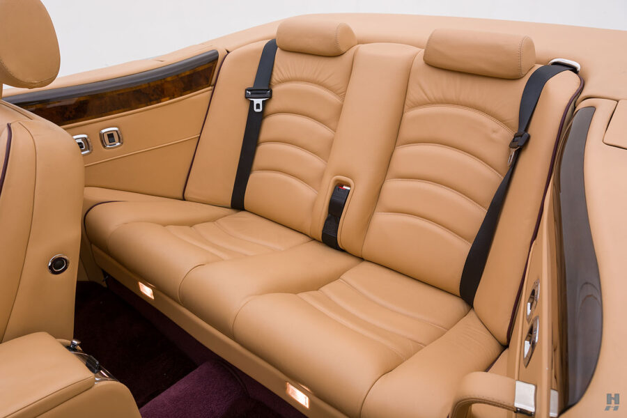 Backseat of Classic 2001 Bentley Car For Sale at Hyman Automobiles in St. Louis