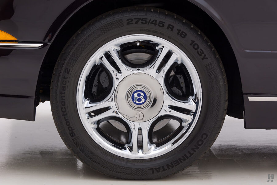 Close Up of Tire on Old 2001 Bentley Car - Find the Price of the Car Online at Hyman Dealers