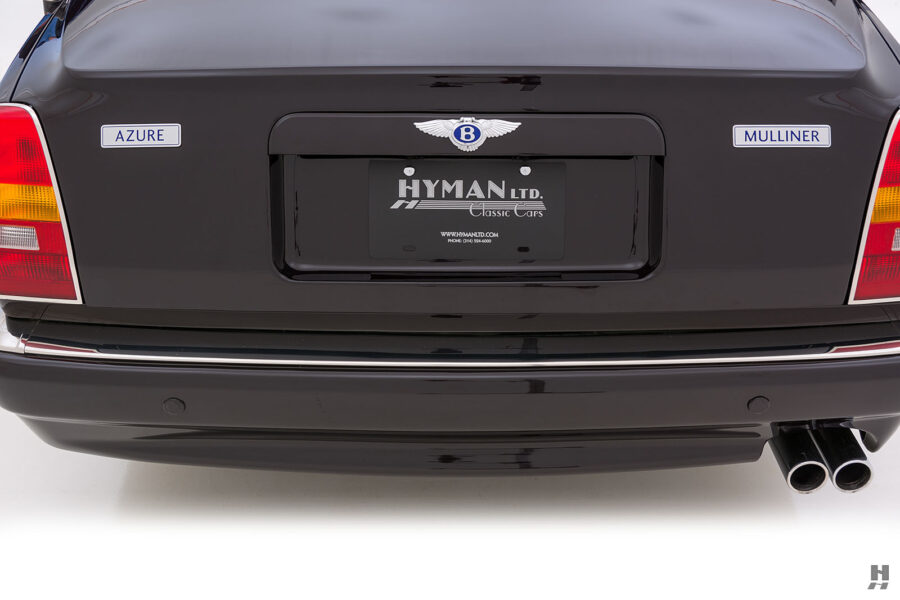 Back Photo of Classic 2001 Bentley Azure Car For Sale at Hyman Automobile Dealers in St. Louis