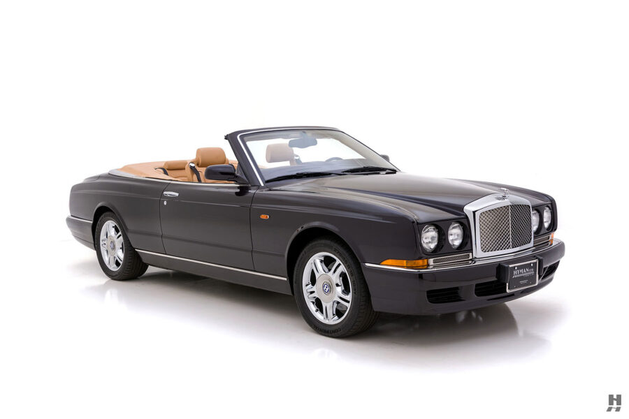 Angled Left Side View of Classic 2001 Bentley Car For Sale at Hyman Automobile Dealers in St. Louis