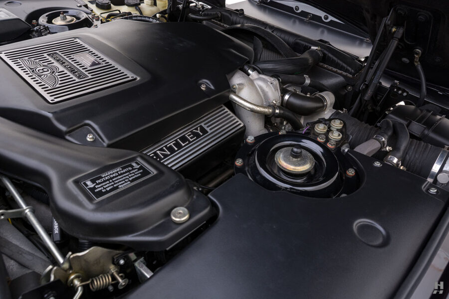 Close Up of Engine on Old 2001 Bentley Car For Sale at Hyman in St. Louis Missouri