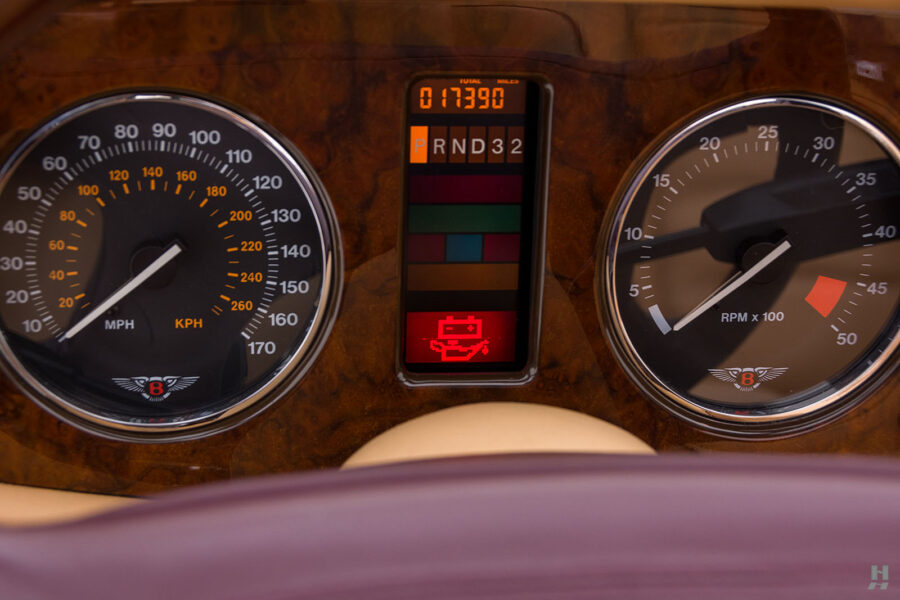 Close Up of Speedometers on Old 2001 Bentley Azure Car For Sale at Hyman Dealers Near You