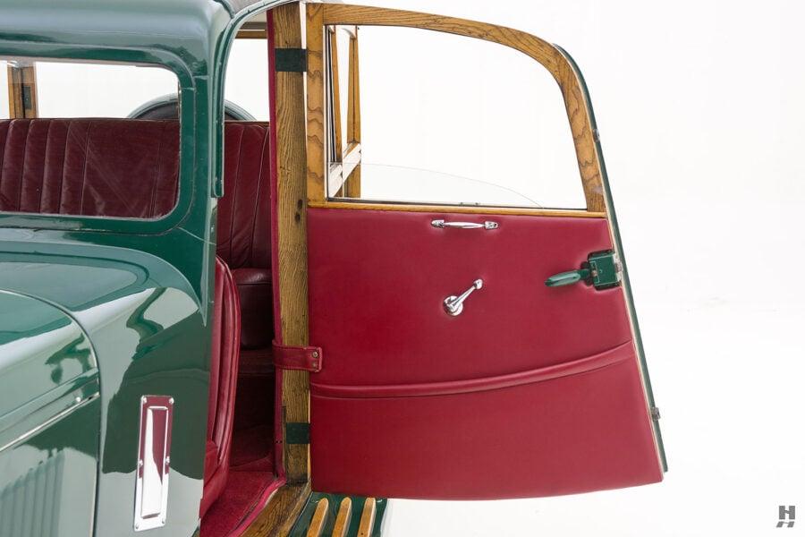 passenger's side door of old jensen ford shooting brake for sale at hyman car dealers