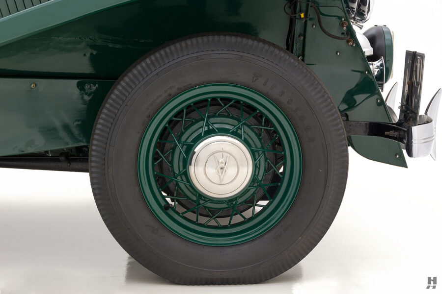 back tire of old jensen ford shooting brake for sale at hyman car dealers