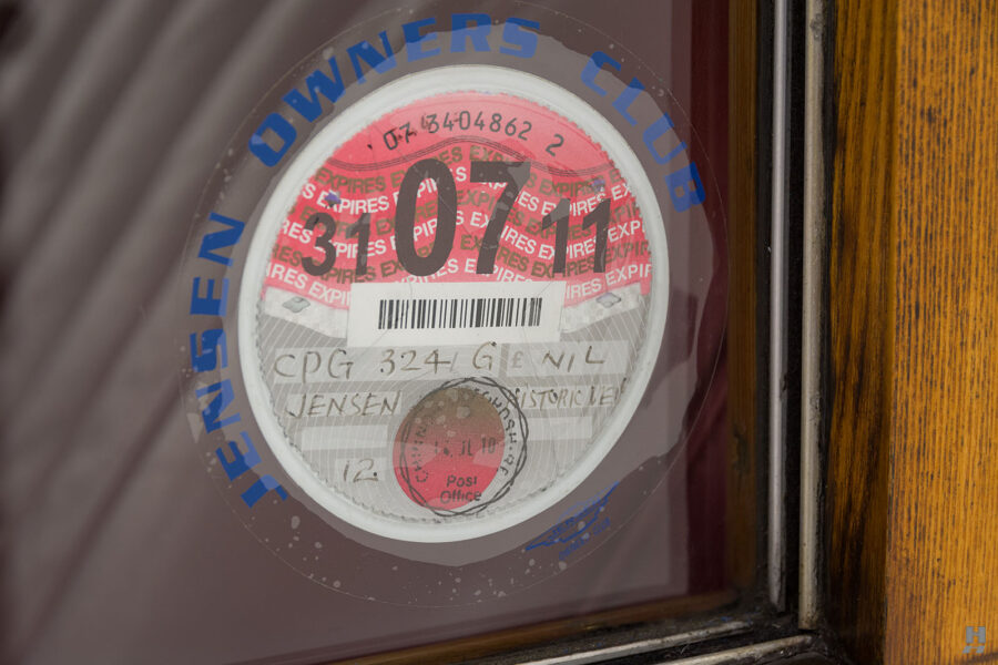 logo of old jensen ford shooting brake for sale at hyman car dealers