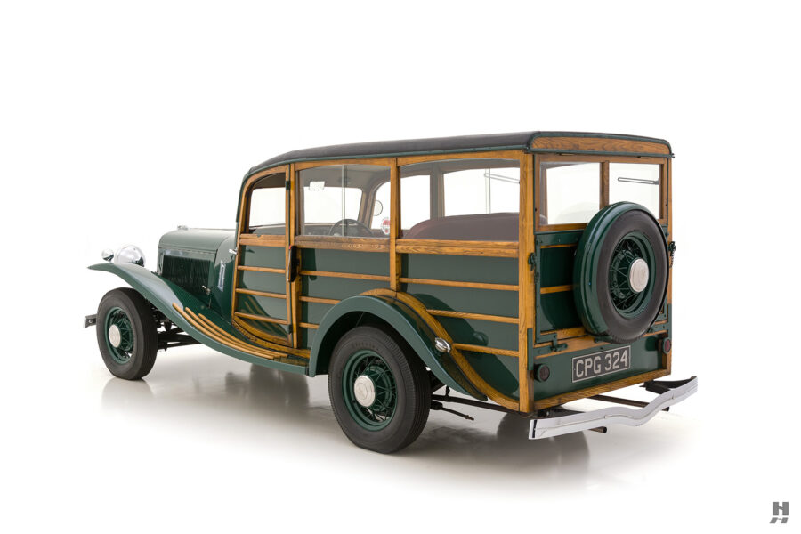 back of old jensen ford shooting brake for sale at hyman car dealers