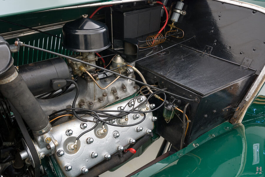 engine of old jensen ford shooting brake for sale at hyman car dealers