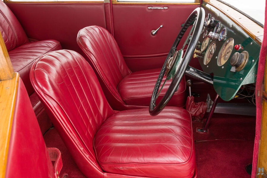front interior of old jensen ford shooting brake for sale at hyman car dealers