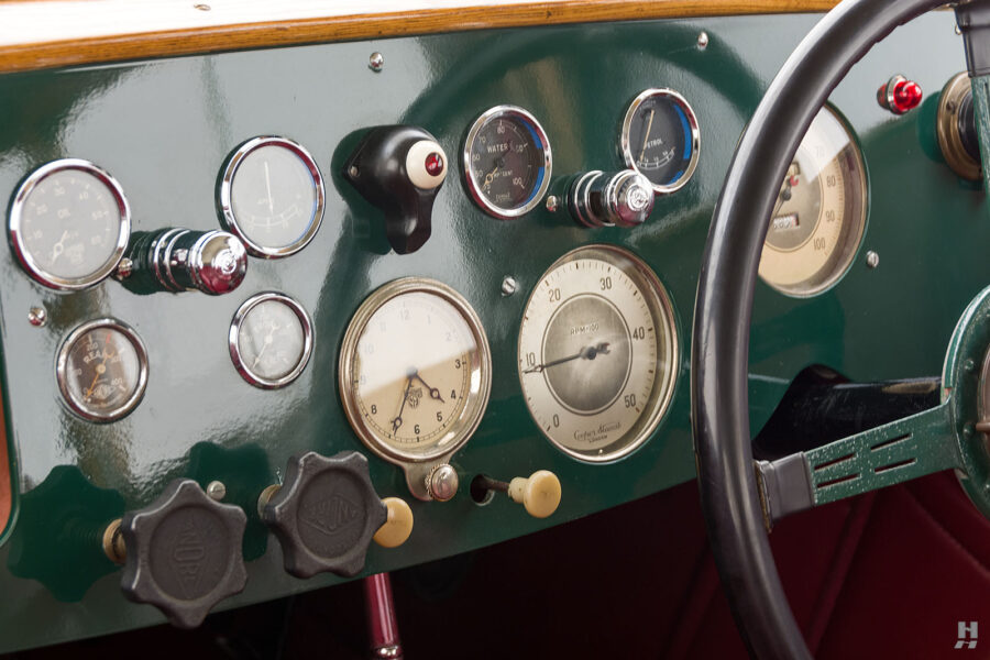 dashboard of old jensen ford shooting brake for sale at hyman car dealers