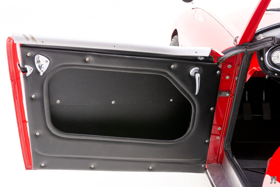 Driver's Side Door of Classic 1959 Austin Healey Car For Sale at Hyman Dealers in St. Louis