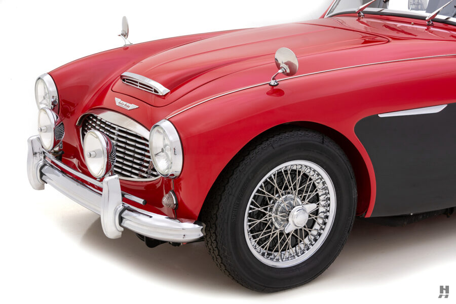 Angled Front Side View of Classic Austin Healey For Sale Online at Hyman in St. Louis