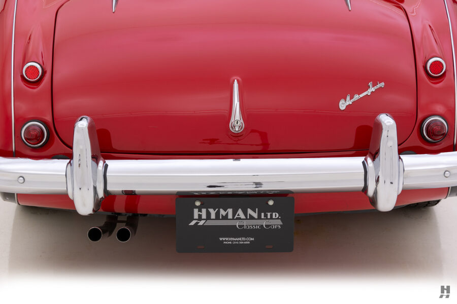 Close Up of Back of Classic 1959 Austin Healey Car For Sale at Hyman Consignment Dealers in St. Louis, Missouri