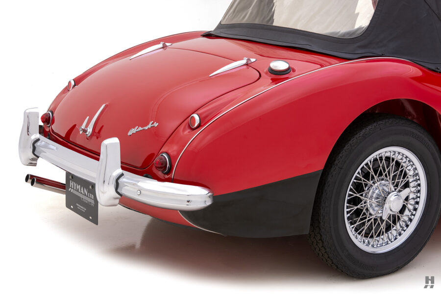 Angled Back View of Classic 1959 Austin Healey Car For Sale at Hyman Consignment Dealers in St. Louis