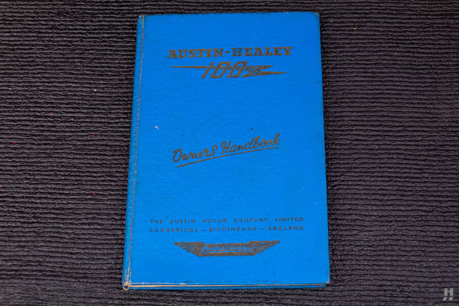 Austin Healey Owner's Handbook For Sale With Car at Hyman Consignment Dealers in St. Louis