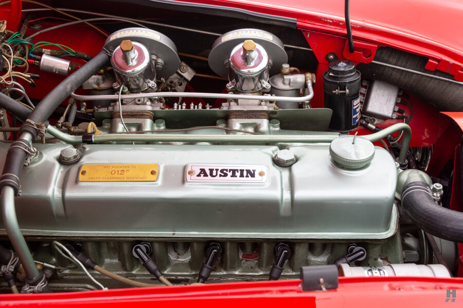 Close Up View of Classic Austin Healey Engine - Find More Cars For Sale at Hyman in St. Louis
