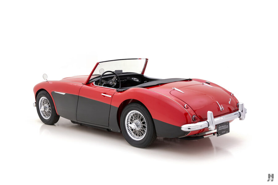 Angled Side View of Classic Austin Healey Sports Car For Sale at Hyman in St. Louis