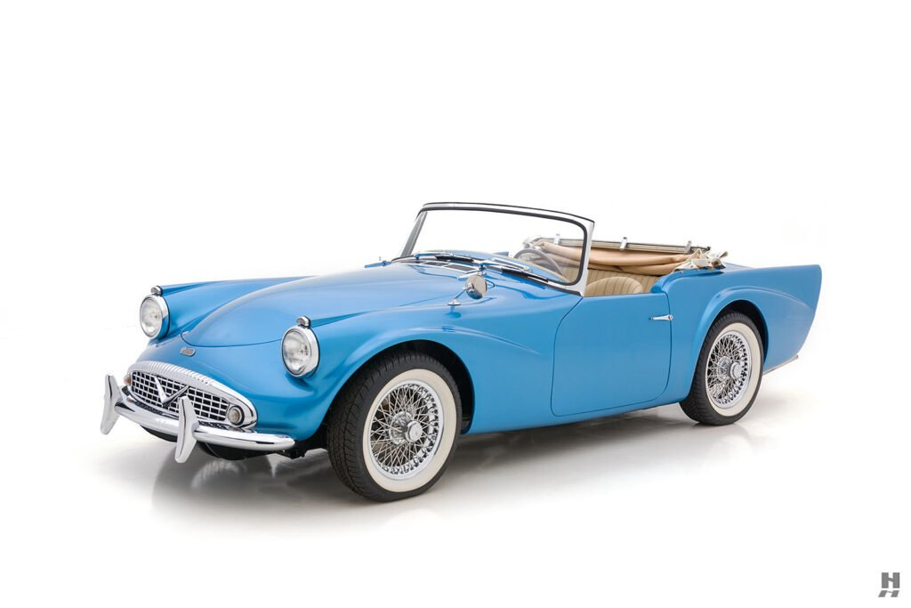 Angled Front Right View of Vintage 1957 Daimler SP250 - Find More Automobiles For Sale at Hyman in St. Louis