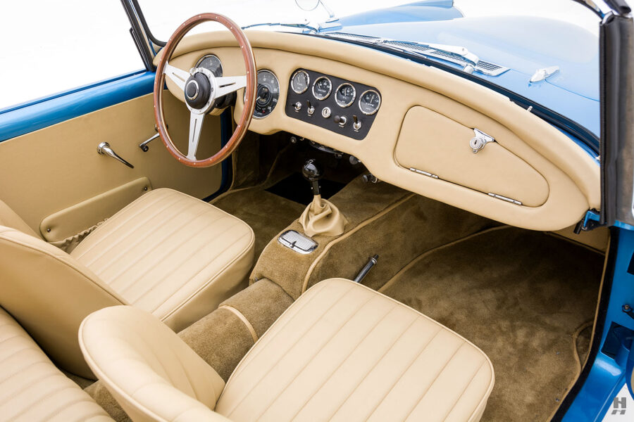 Angled Right Side View of Front Seats of Unique 1957 Daimler SP250 - Find More Classic Cars at Hyman in St. Louis, Missouri