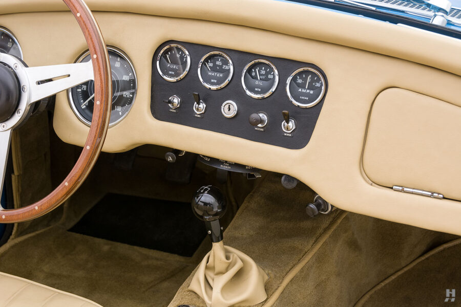 View of Dashboard on Exotic 1957 Daimler SP250 - Find More Classic Cars For Sale at Hyman Auto Dealership