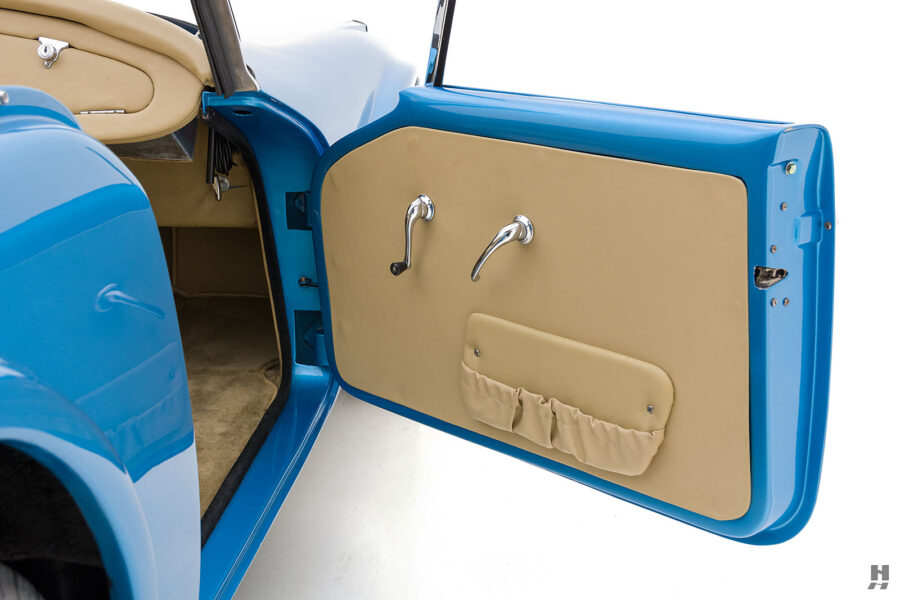 Passenger Side Door of 1957 Daimler SP250 For Sale at Hyman Automobile Dealers in St. Louis