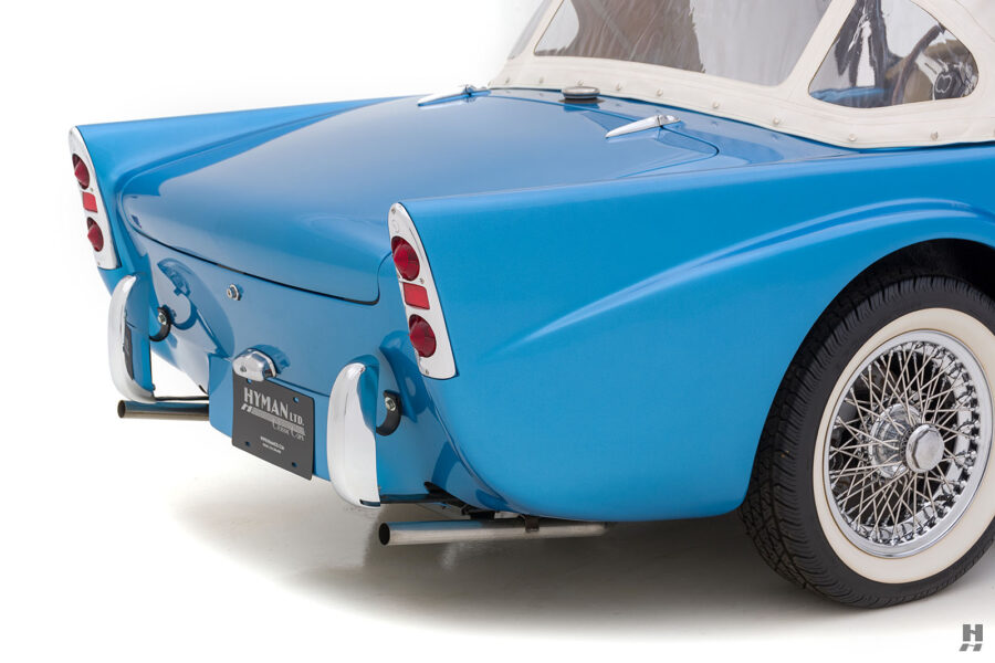 Right Side Back View of Classic 1957 Daimler SP250 Only Available at Hyman Auto Dealers