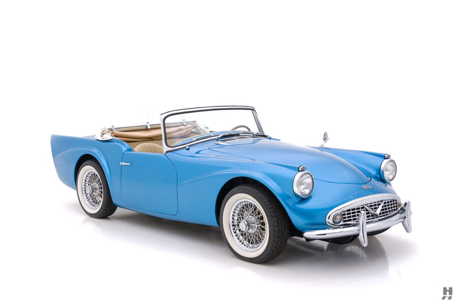 Right Side Front View of Rare 1957 Daimler SP250 For Sale at Hyman in St. Louis
