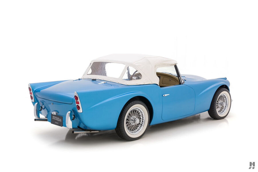Right Side Back View of Rare 1957 Daimler SP250 For Sale at Hyman in St. Louis