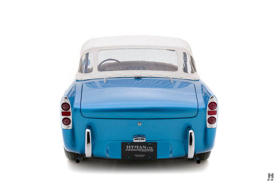 Back View of Old 1957 Daimler SP250 With Convertible Top For Sale at Hyman Dealers in St. Louis
