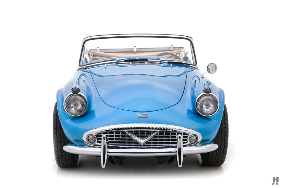 Front View of Restored 1957 Daimler SP250 For Sale at Hyman Automobile Dealers in St. Louis