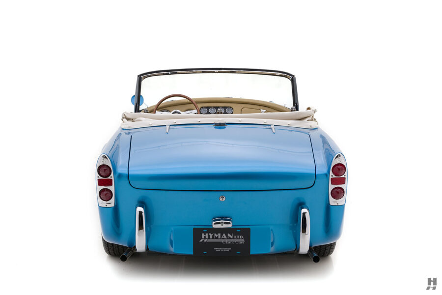 Back View of Classic 1957 Daimler SP250 For Sale at Hyman Automobile Dealers in St. Louis