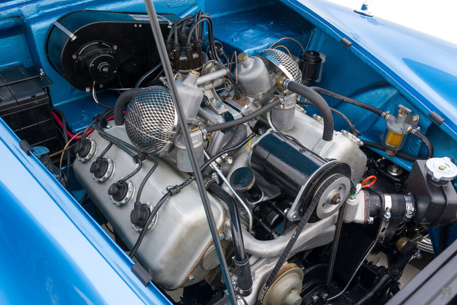 Engine Inside Classic 1957 Daimler SP250 For Sale at Hyman Car Dealers in St. Louis, Missouri