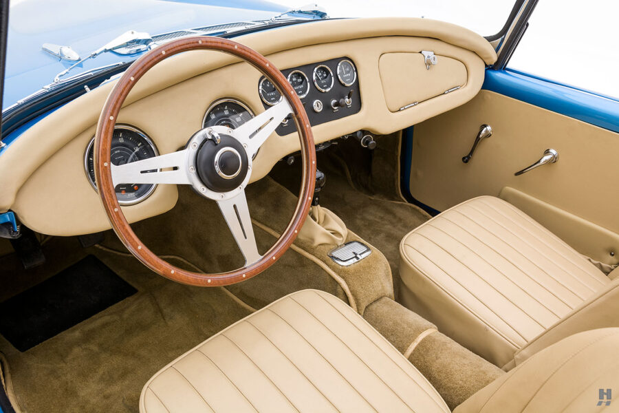 Angled Left Side View of Classic 1957 Daimler SP250 Car For Sale at Hyman in St. Louis, Missouri