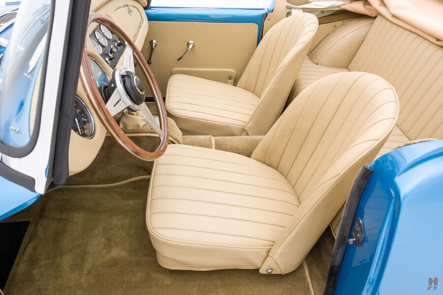 Left Side View of Front Seat in 1957 Daimler SP250 Car For Sale at Hyman in St. Louis, Missouri
