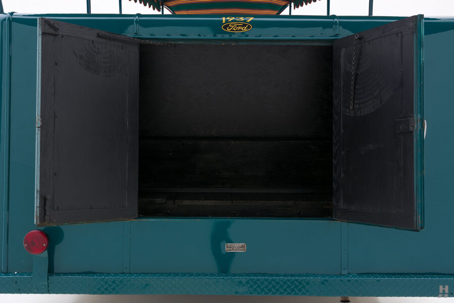 trunk on restored ford model bb touring bus for sale at hyman car dealers