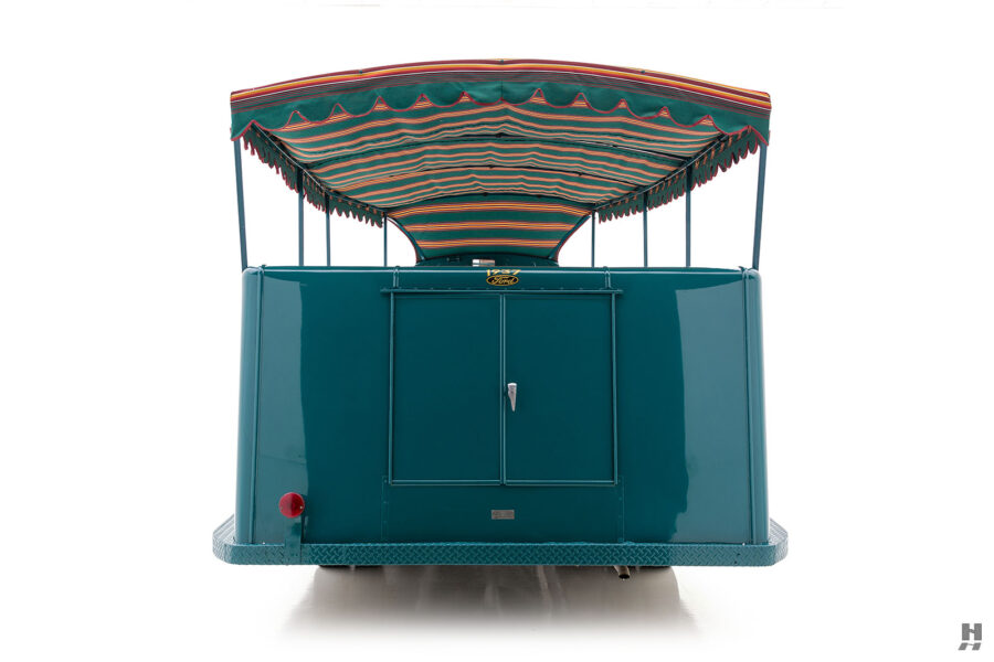 back of restored ford model bb touring bus for sale at hyman car dealers
