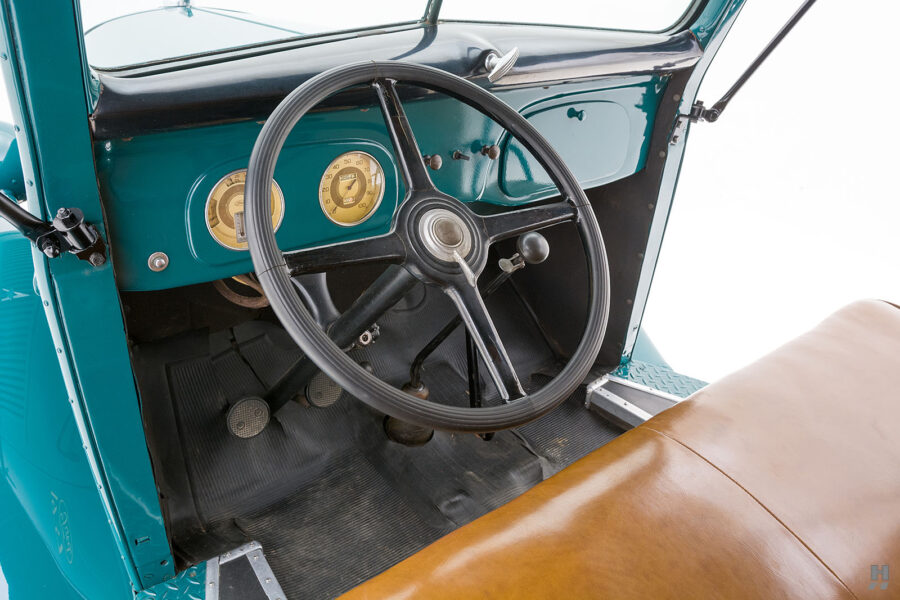 front interior on restored ford model bb touring bus for sale at hyman car dealers