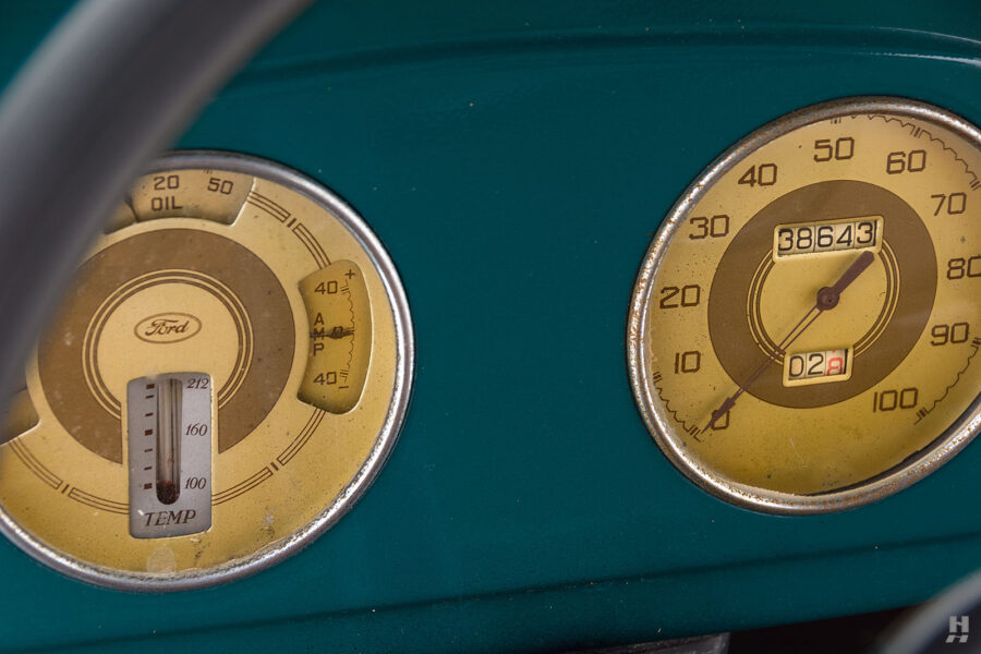 speedometers on restored ford model bb touring bus for sale at hyman car dealers