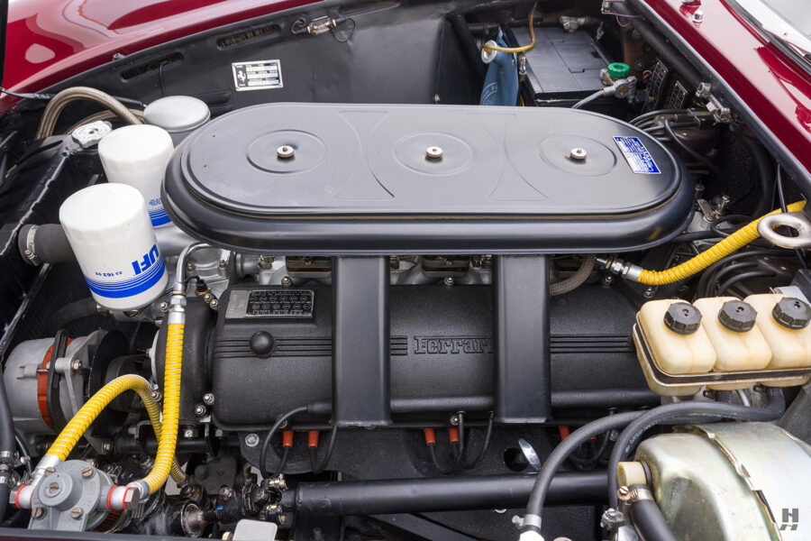 Engine in 1967 Ferrari Convertible for sale at Hyman vehicle consignment dealers in St. Louis, Missouri