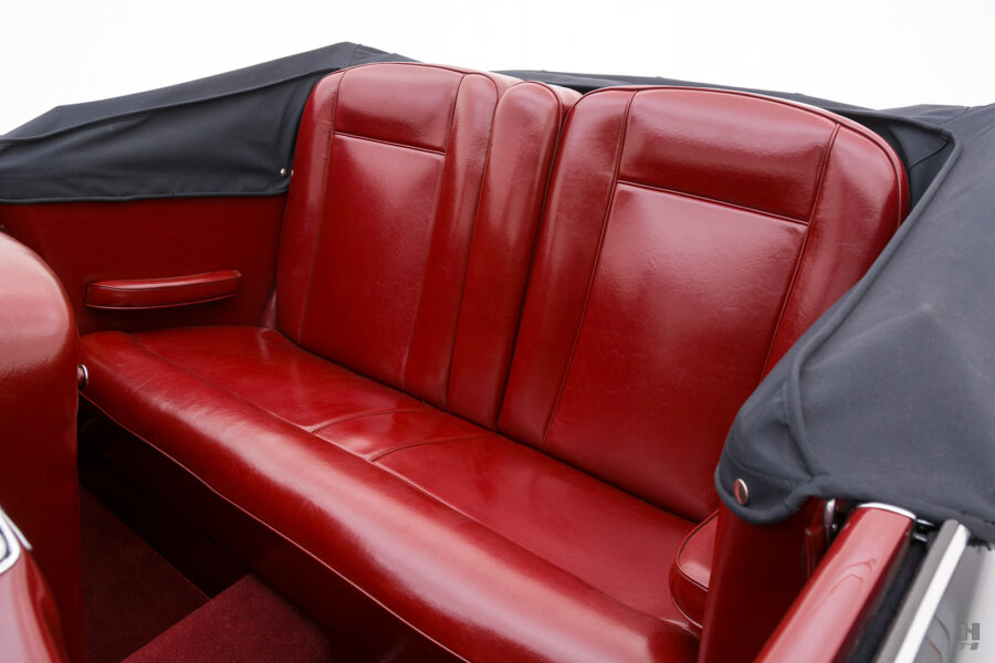 back seats of vintage 1938 lancia car for sale at Hyman