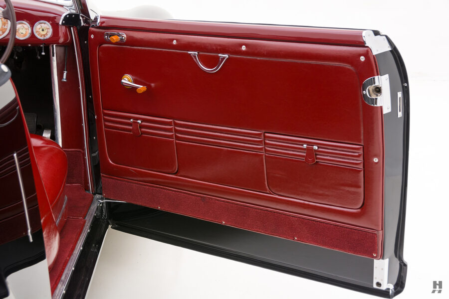 driver's side door on vintage 1938 lancia car for sale at Hyman dealers