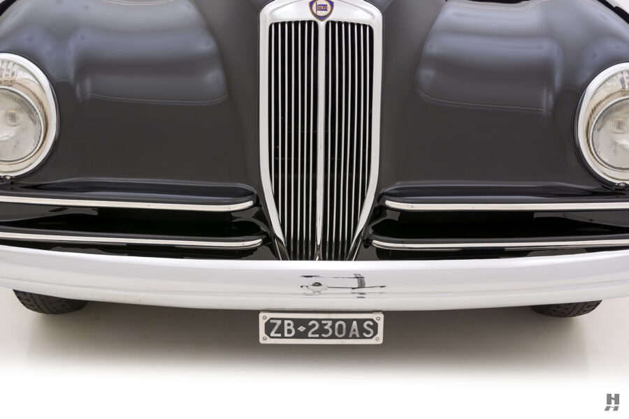 front of vintage 1938 lancia automobile for sale at Hyman