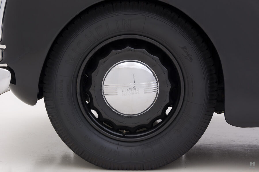back tire of vintage lancia cabriolet car for sale at Hyman in St. Louis